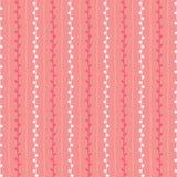 Het naadloze vectorpatroon van de de lenteschets Rode roze en witte takjeachtergrond Hand getrokken taktextuur Stock Afbeeldingen