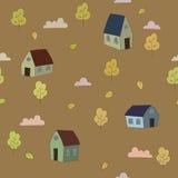 Het naadloze vectorpatroon van de herfst Royalty-vrije Stock Afbeeldingen