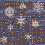 Het naadloze vectorpatroon van de Kerstmiswinter vector illustratie
