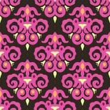 Het Naadloze Vectorpatroon van het fluweeldamast Royalty-vrije Stock Afbeelding