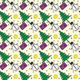 Het naadloze vectorpatroon van Kerstmis Royalty-vrije Stock Afbeeldingen