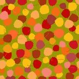 Het naadloze vectorpatroon van multicoloured rijken acpen bladeren Royalty-vrije Stock Afbeelding
