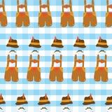 Het naadloze vectorpatroon van Oktoberfestlederhosen royalty-vrije illustratie