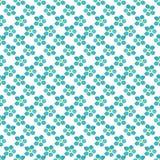 Het naadloze vectorvergeet-mij-nietje bloeit patroon Stock Foto