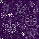 Het Naadloze violette Patroon van Kerstmis Royalty-vrije Stock Afbeeldingen
