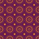 Het naadloze viooltje van patroonmehendi Stock Afbeeldingen