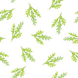 Het naadloze waterverfpatroon met groen doorbladert royalty-vrije stock fotografie
