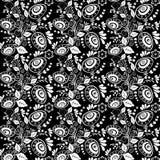 Het naadloze zwart-wit patroon van Pasen Stock Foto