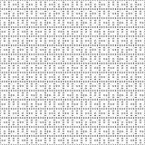 Het naadloze zwart-wit patroon van het punten vierkante net Eenvoudige zwarte witte geometrische textuur voor stof en kleding Vec Stock Foto