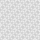 Het naadloze zwart-wit patroon van het punten vierkante net Eenvoudige zwarte witte geometrische textuur voor stof en kleding Vec Stock Afbeelding