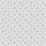 Het naadloze zwart-wit patroon van het puntennet Eenvoudige zwarte witte geometrische textuur voor stof en kleding Vector illustr Stock Fotografie
