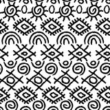 Het naadloze zwart-witte patroon van Navajo Stock Fotografie
