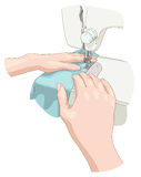 Het naaien. Royalty-vrije Stock Fotografie