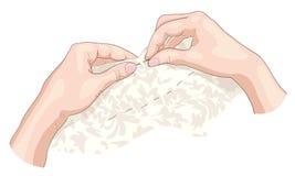 Het naaien. Royalty-vrije Stock Foto