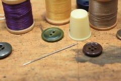 Het naaien begrippen stock foto