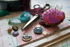Het naaien dingen Stock Foto's