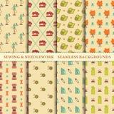 Het naaien en handwerkpatronen Stock Fotografie
