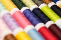 Het naaien katoenen kleuren royalty-vrije stock foto