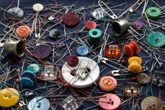 Het naaien kleine dingen Stock Afbeeldingen
