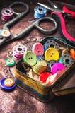 Het naaien knoopreeks Royalty-vrije Stock Foto