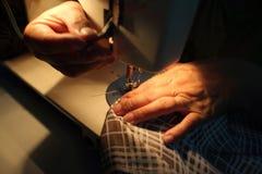 Het naaien Proces Royalty-vrije Stock Fotografie