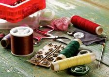 Het naaien Puntenconcept Stock Afbeeldingen