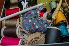 Het naaien reeks Royalty-vrije Stock Foto