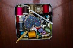 Het naaien reeks Royalty-vrije Stock Foto's