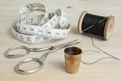 Het naaien reeks Stock Foto