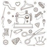 Het naaien reeks Royalty-vrije Stock Afbeelding