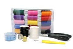 Het naaien Reeks Accessoires Stock Afbeelding
