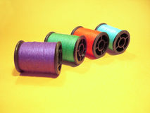 Het naaien - spoeldraden 02 Stock Foto