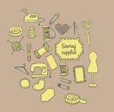 Het naaien toebehorenkrabbel stock illustratie
