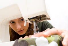 Het naaien van de hand Stock Foto