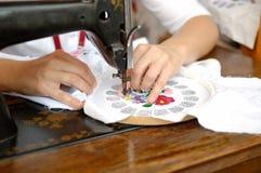 Het naaien van de hand Royalty-vrije Stock Afbeelding