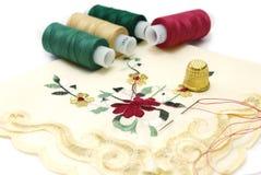 Het Naaien van de zakdoek Stock Afbeelding