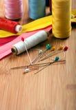 Het naaien van materiaal Stock Afbeelding