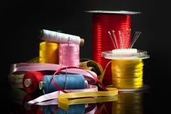 Het naaien van materiaal Royalty-vrije Stock Foto's