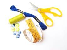Het naaien van Materiaal Stock Foto's