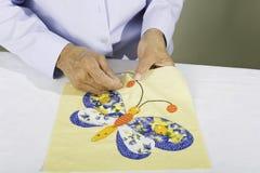 Het naaien vlinder Stock Afbeelding