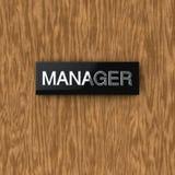 Het naambord van de deur Royalty-vrije Stock Foto's