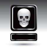 Het naambord van de schedel Stock Foto's