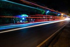 Het nachtleven in Chidambaram, India stock afbeeldingen