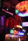Het nachtleven in Pattaya-stad Royalty-vrije Stock Foto's