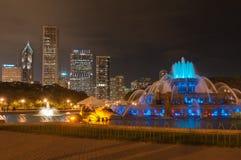 Het nachtleven van Chicago stock foto's