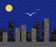 Het nachtleven van de stad vector illustratie