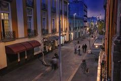 Het nachtleven van Mexico-City Stock Afbeelding