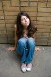 Het nadenkende meisje Royalty-vrije Stock Foto