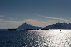 Het naderbij komen Lofoten Royalty-vrije Stock Afbeelding
