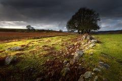 Het naderbij komen onweer over Brecon, Zuid-Wales het UK royalty-vrije stock afbeeldingen